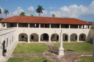 View of the restored courtyard of the Castillo de San Severino, Matanzas, Cuba